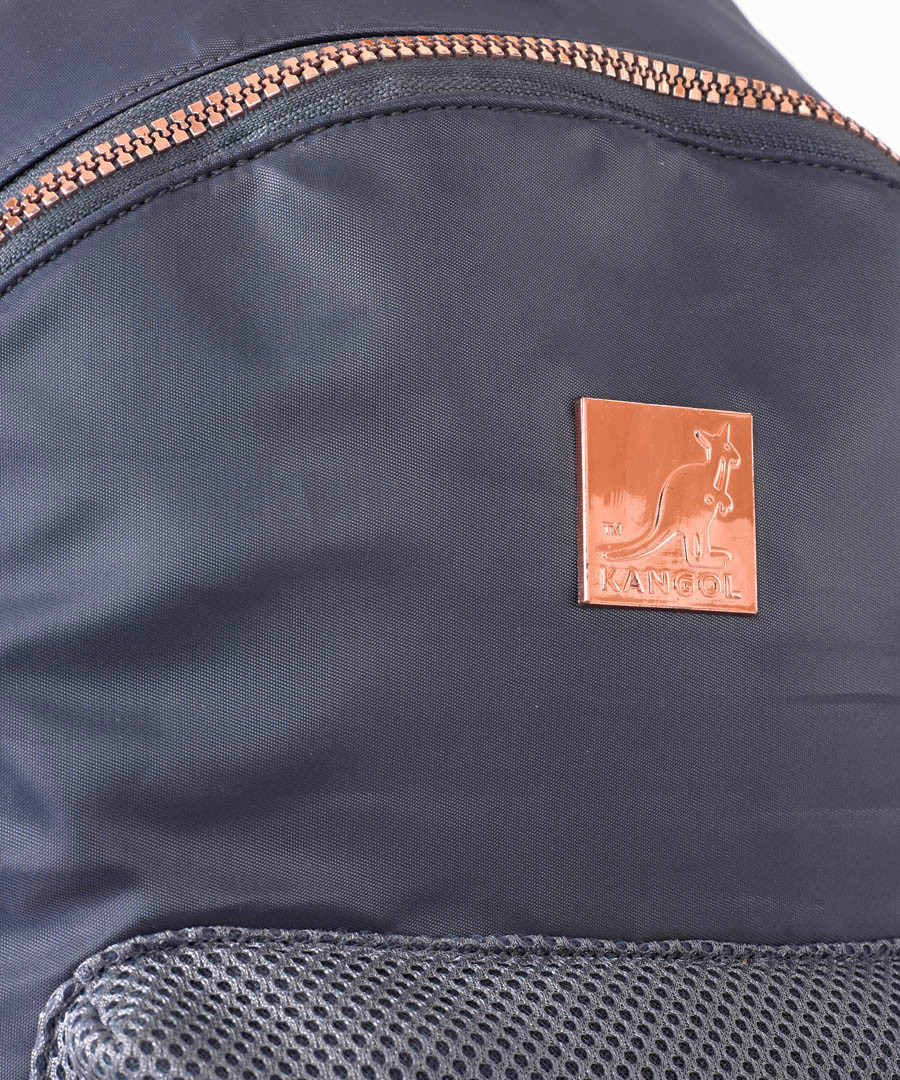 9c9935541f ... Blue   rose gold satin backpack Sale - KANGOL