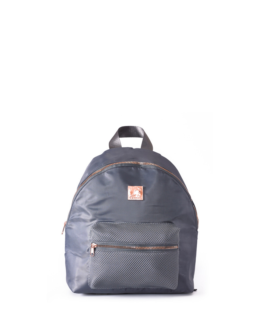 6a52d711ba Blue   rose gold satin backpack Sale - KANGOL ...