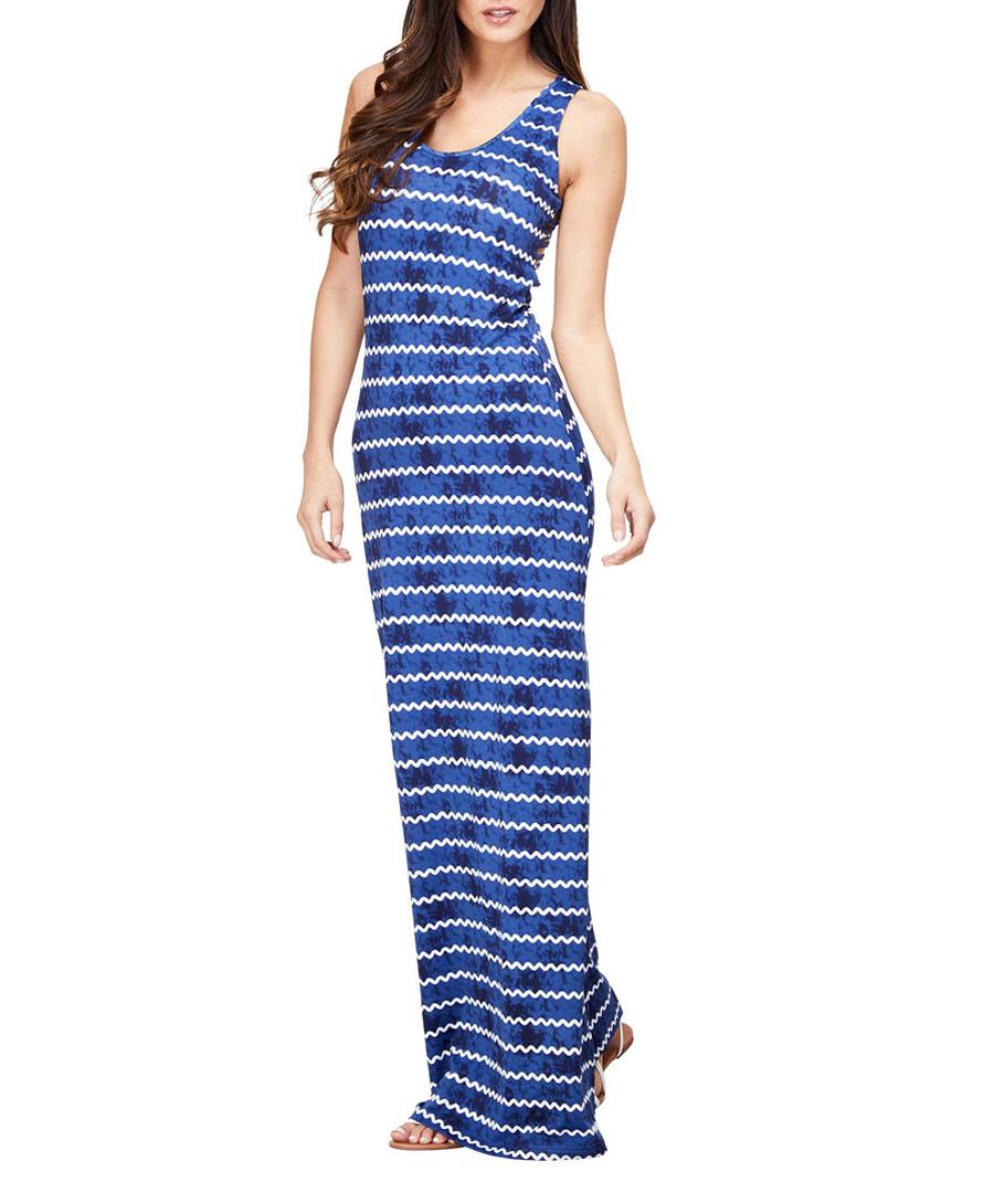 Navy stripe strappy maxi dress Sale - iska