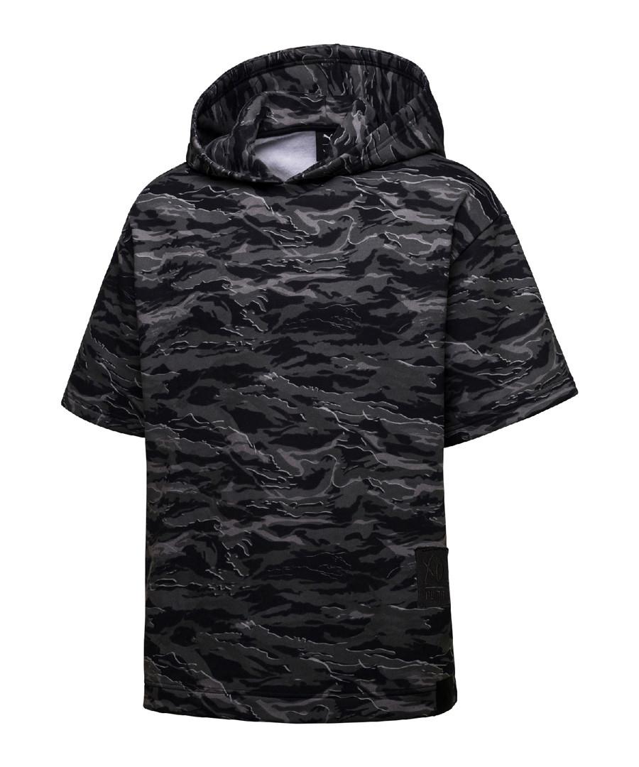 Men's black cotton camouflage hoodie Sale - puma