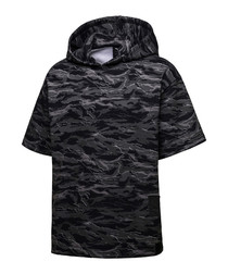 Men's black cotton camouflage hoodie