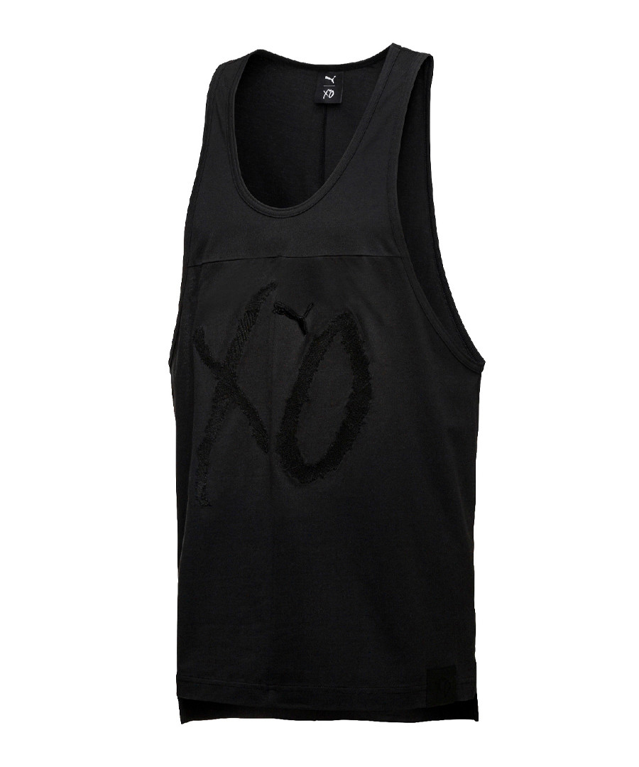 Black pure cotton vest top Sale - puma