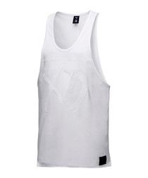 White pure cotton vest top