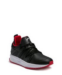 Tsugi Blaze black leather sneakers