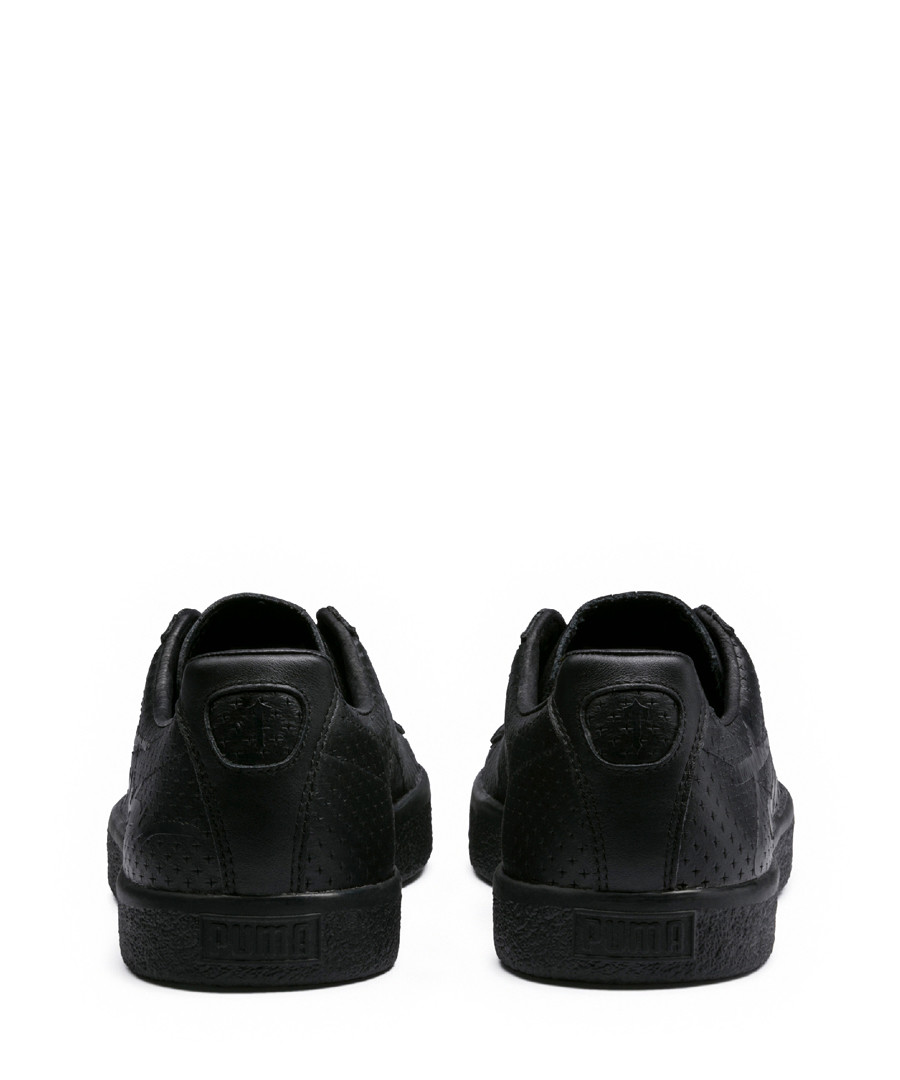 new concept f6e94 1414a Discount Clyde black leather sneakers | SECRETSALES