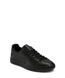Clyde black leather sneakers