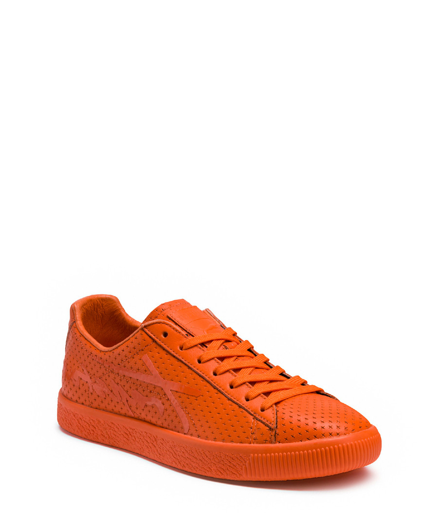 Clyde orange leather sneakers Sale - puma