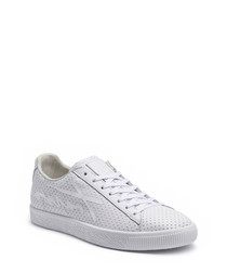 Clyde white leather sneakers