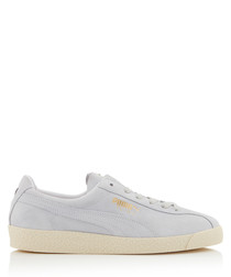 Te-Ku white lace-up sneakers