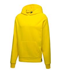 Men's yellow cotton blend hoodie