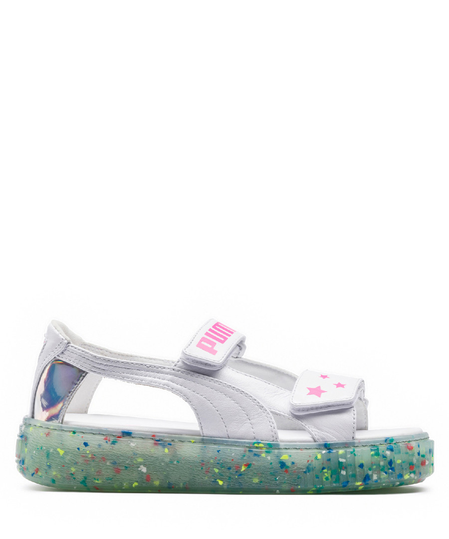 0c9bce847 White   pink leather platform sandals Sale - puma ...