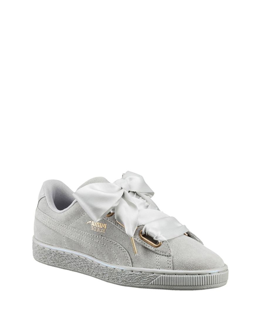 cheaper 52864 10f66 Discount Basket Heart grey suede sneakers | SECRETSALES