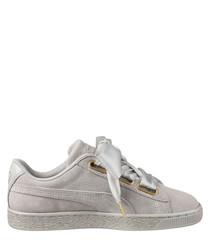 Basket Heart grey suede sneakers