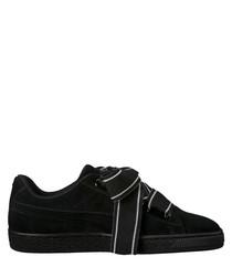 Basket Heart black suede sneakers