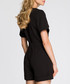 Black short sleeve tie-waist playsuit Sale - made of emotion Sale