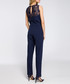 Navy lace panel sleeveless jumpsuit Sale - made of emotion Sale