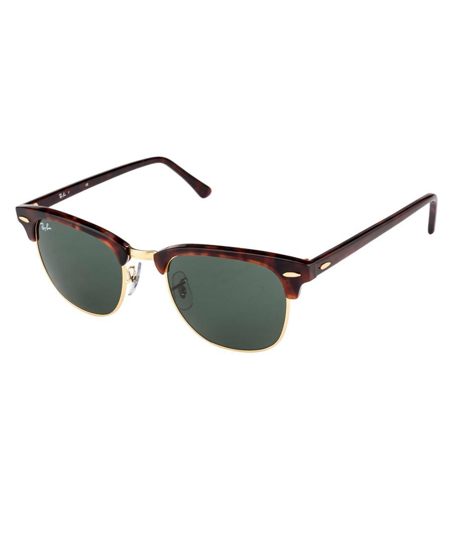 Tortoiseshell clubmaster sunglasses Sale - ray ban