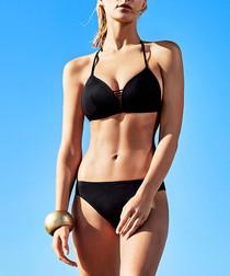 2pc black halterneck bikini set