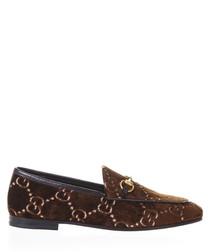 Women's Jordan brown velvet loafers