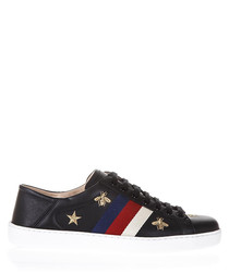 Men's Ace black leather sneakers