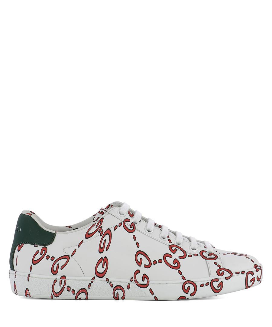 Women's white leather logo sneakers Sale - gucci