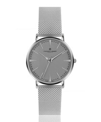 Eiger silver-tone mesh numberless watch