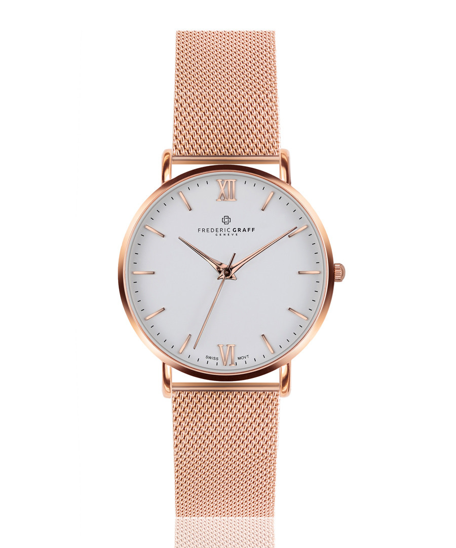 Dent Blanche rose gold-tone mesh watch Sale - frederic graff