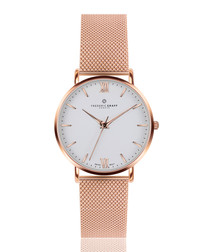 Dent Blanche rose gold-tone mesh watch