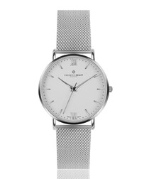 Dent Blanche silver-tone mesh watch