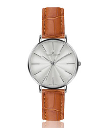 Monte Rosa ginger leather moc-croc watch