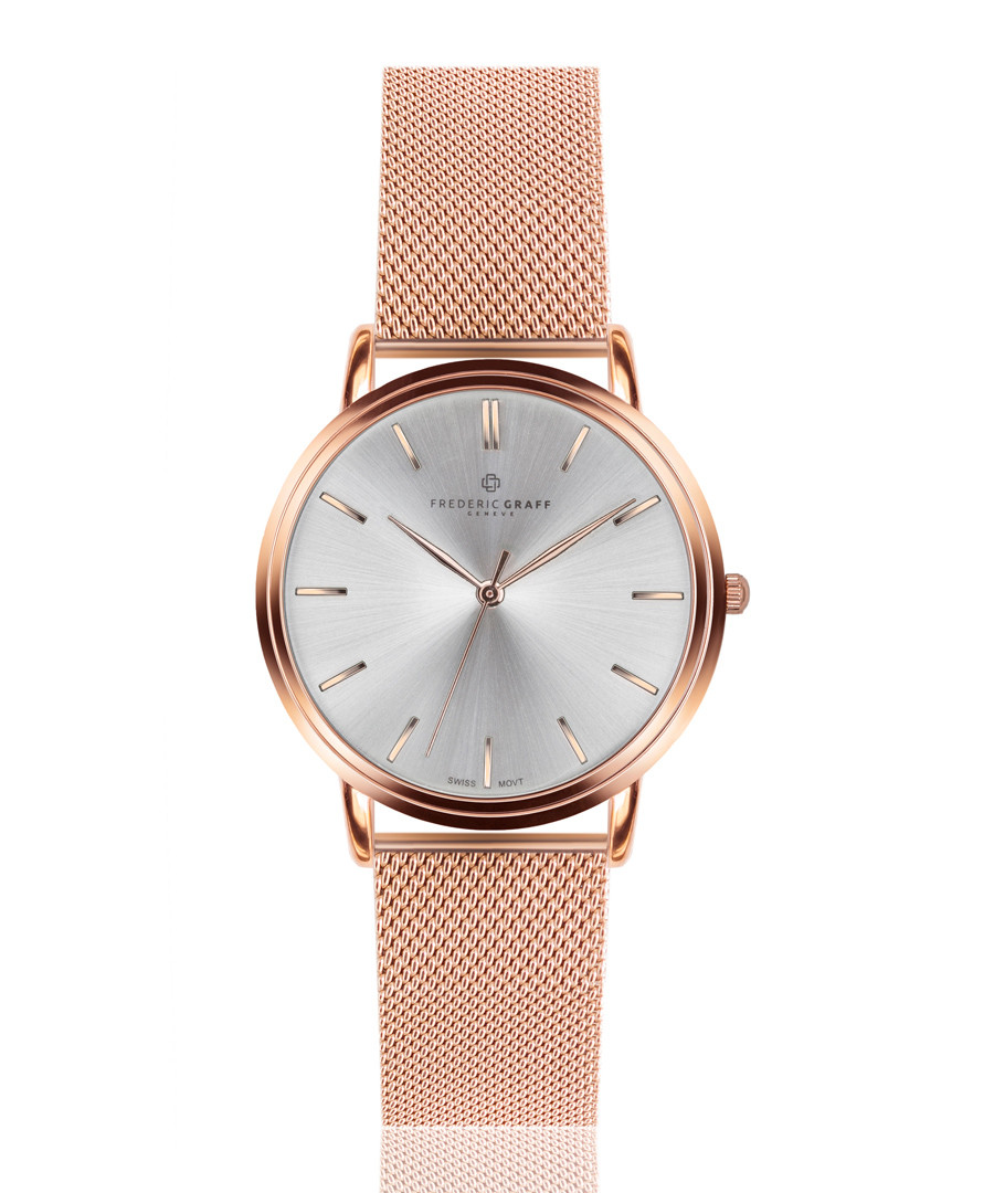 Breithorn rose gold-tone mesh watch Sale - frederic graff