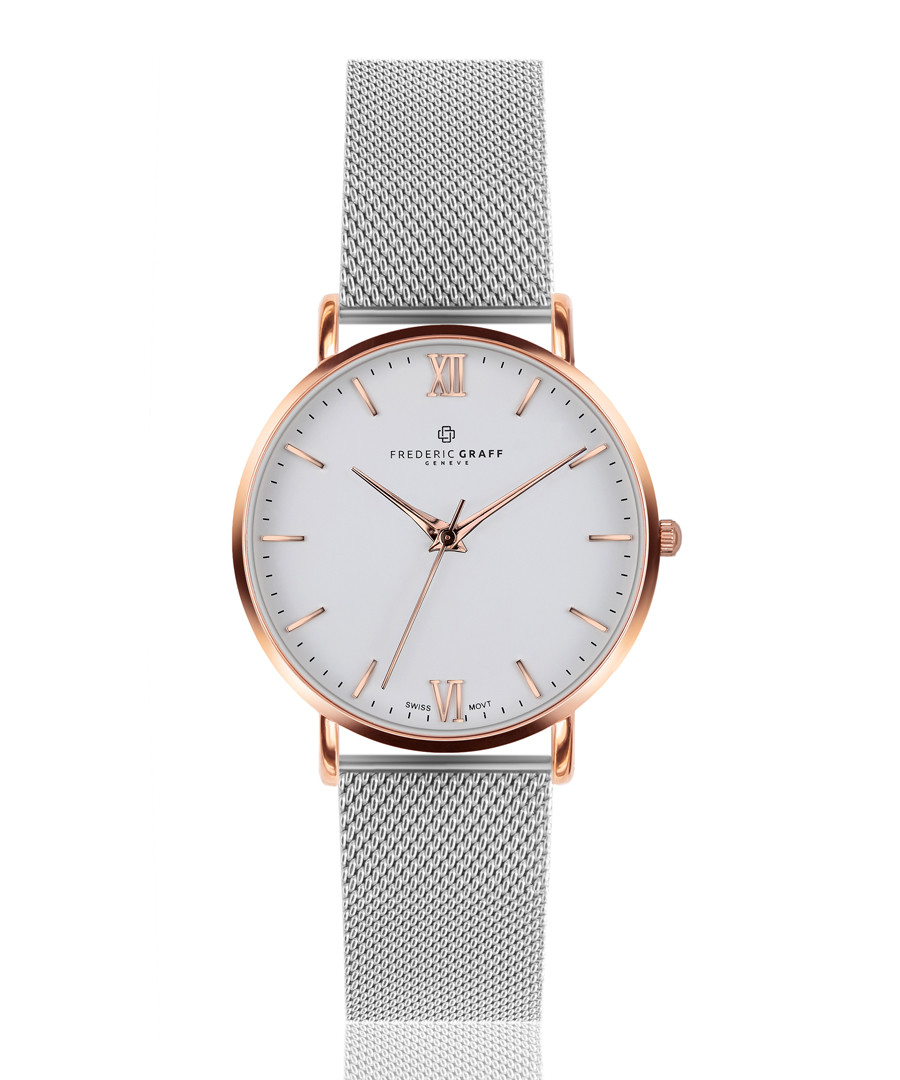 Dent Blanche two-tone steel mesh watch Sale - frederic graff