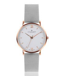 Dent Blanche two-tone steel mesh watch