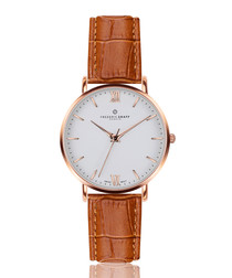 Dent Blanche ginger leather watch