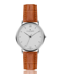 Dent Blanche ginger & silver watch