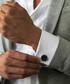Black steel marble cufflinks Sale - monomen Sale