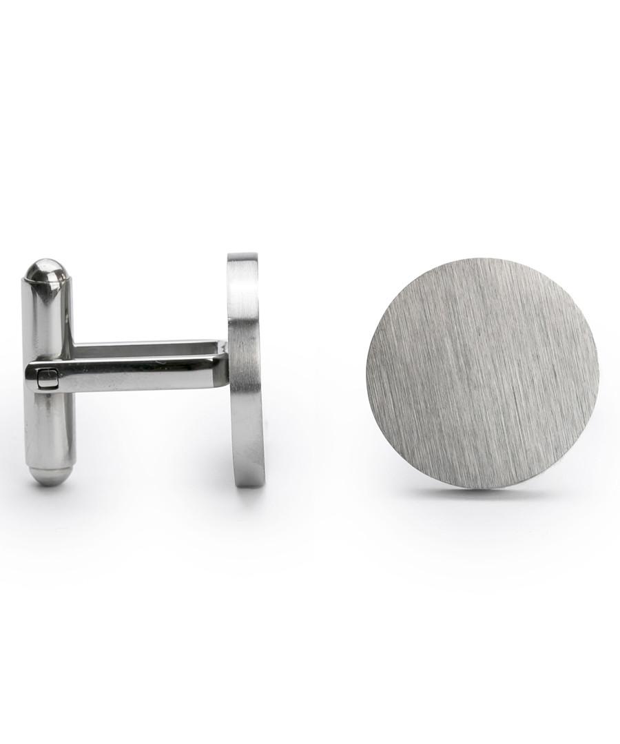 Silver-tone steel toggle close cufflinks Sale - monomen