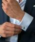 Silver-tone steel fixed cufflinks Sale - monomen Sale