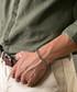 Grey jasper cross beaded bracelet Sale - monomen Sale