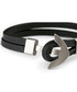 Black nappa & steel anchor bracelet Sale - monomen Sale