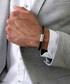 Black nappa braided bracelet Sale - monomen Sale