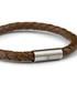 Brown nappa braided bracelet Sale - monomen Sale