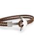 Brown nappa braided anchor bracelet Sale - monomen Sale