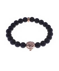 Matte black onyx tiger beaded bracelet