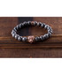 Grey jasper tiger beaded bracelet Sale - monomen Sale