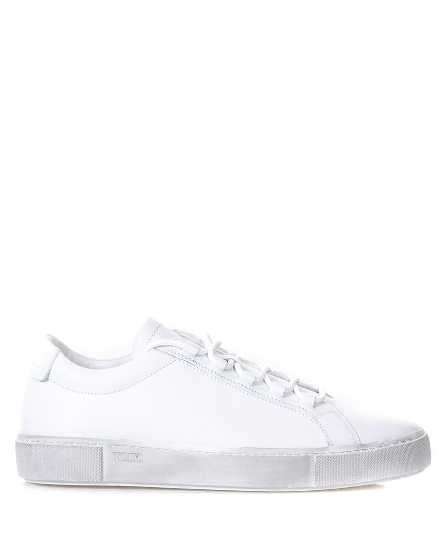 Men's white leather lace-up sneakers Sale - tod's