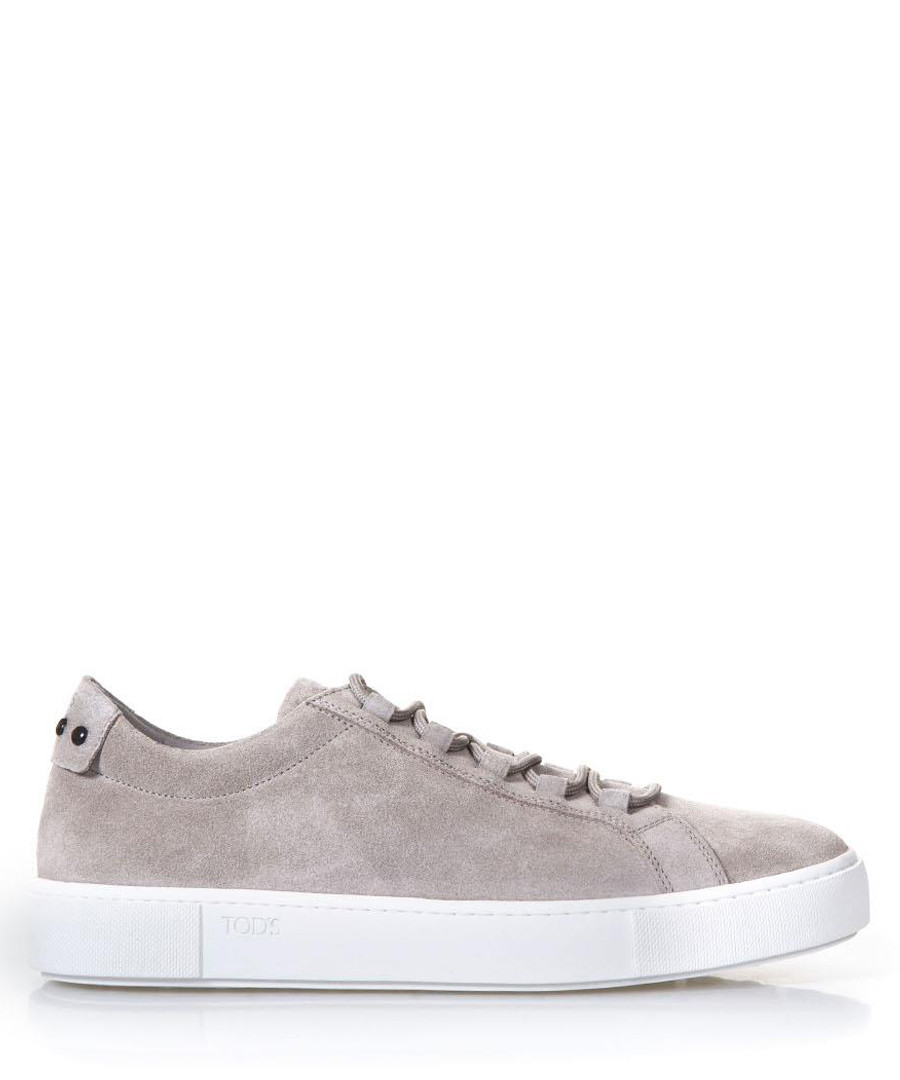 Men's grey suede lace-up sneakers Sale - tods
