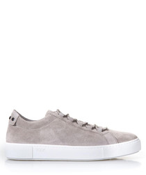 Men's sand suede lace-up sneakers