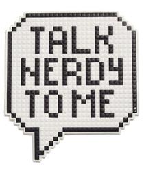 Talk Nerdy white slogan patch