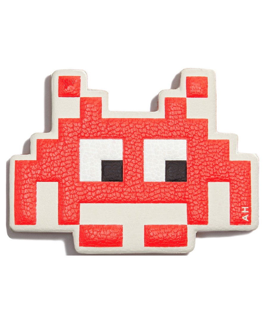 Space Invader flame red leather patch Sale - anya hindmarch